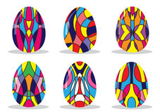 Painted Colorful Easter Eggs Royalty Free Stock Image