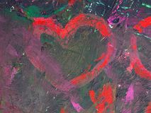 Painted colorful heart, can use as background royalty free stock photo