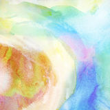 Painted colorful watercolor background. Stock Photography
