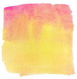 Painted colorful watercolor design element Royalty Free Stock Photography