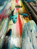 Painted colors. Oil painted abstract colors games Royalty Free Stock Images