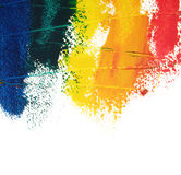 Painted colors Stock Image