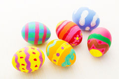 Painted colourful easter egg Royalty Free Stock Images