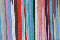 Painted concrete facade in vivid colors. Vertical striped royalty free stock photos