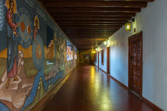 Painted corridor in Kykkos monastery in Cyprus Stock Photos