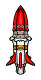 Painted cosmic rocket Royalty Free Stock Photo