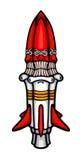 Painted cosmic rocket Royalty Free Stock Photo