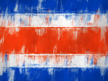 Painted Costa Rica flag Stock Photos