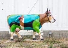 Cow Parade, central California coast Royalty Free Stock Photos