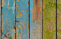 Painted cracked wooden background or texture Royalty Free Stock Photo
