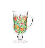 Painted cup for mulled wine. Stock Images