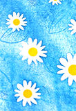 Painted daisies Stock Image