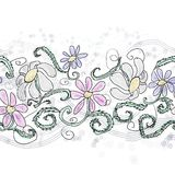 Painted daisy pattern Royalty Free Stock Photo