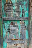 Painted damaged wooden surface closeup, background/ texture. stock photography