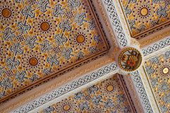 Painted and decorated ceiling. Palace in Sintra Royalty Free Stock Image