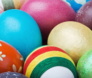Painted and decorated Easter eggs Stock Photo