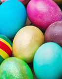 Painted and decorated Easter eggs Stock Images