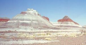 Painted desert. View of the painted desert in arizona Stock Photos