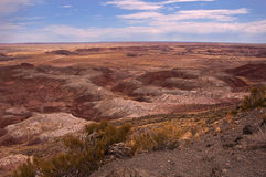 Painted Desert. This is a view of the Painted Desert from the national park that bears its name Stock Photos