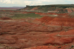 Painted Desert. Red and green; northern Arizona Royalty Free Stock Images