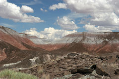 Painted desert. Breathtaking view of painted desert national park in Arizona Stock Photos