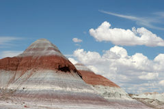 Painted desert. Beautiful view of painted desert and sky Stock Photos