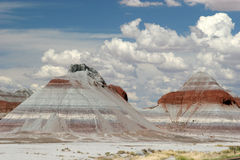 Painted desert. Beautiful view of painted desert and sky Royalty Free Stock Image