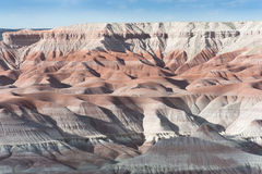 Painted Desert Arizona. Near Winslow Arizona the Painted Desert gleams pink and white under the scorching sun Royalty Free Stock Photography