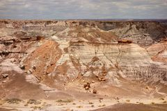 The painted desert as seen in arizona in the springtime stock photography