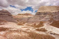 The painted desert as seen in arizona in the springtime royalty free stock image