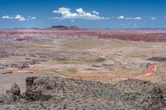 The Painted Desert badlands in the Four Corners area of Arizona USA Royalty Free Stock Images
