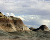 Painted Desert Hills. Hills and sky, part of Arizona's western Painted Desert, beside highway 89, north of Flagstaff, Arizona Royalty Free Stock Photography