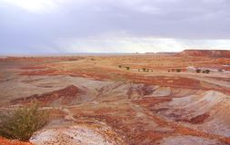 Painted Desert during a Rain Storm Royalty Free Stock Photography