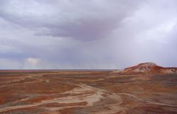 Painted Desert during a Rain Storm Stock Photo