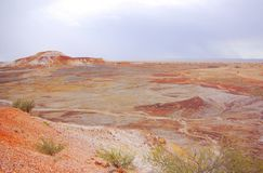 Painted Desert during a Rain Storm Royalty Free Stock Image