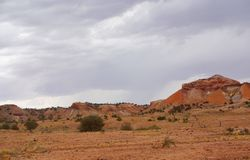 Painted Desert during a Rain Storm Royalty Free Stock Images