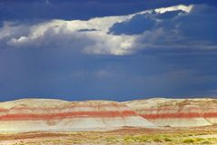 Painted Desert in Storm Light Royalty Free Stock Images