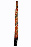 Painted didgeridoo Royalty Free Stock Images