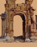 Painted dilapidou o arco de pedra de ruínas antigas Imagem de Stock Royalty Free
