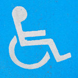 Painted disabled sign Royalty Free Stock Photos
