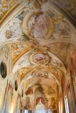 Painted dome in an old Italian villa stock images