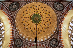 Painted dome of the Suleymaniye Mosque in Istanbul Stock Photo