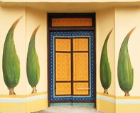 Painted door Stock Photos