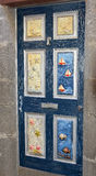 Painted door in Funchal, Madeira, Portugal Royalty Free Stock Photography