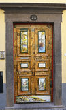 Painted door in Funchal, Madeira, Portugal Royalty Free Stock Image