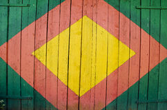 Painted doors background Royalty Free Stock Photography