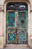 Painted doors in Paris. Graffiti style painted doors in Paris Royalty Free Stock Image