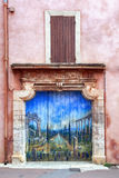 Painted Doorway Roussillon France Stock Photography