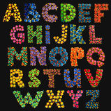 Painted Dots Alphabet Letters Stock Photo