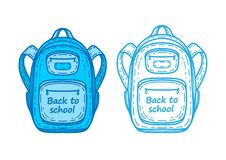 Painted school backpack . Back to school. Painted drawing concept vector  illustration royalty free illustration 101ef25db71e0